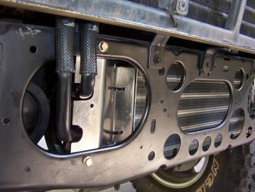 Behind bumper auto cooler